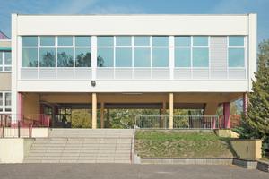 Die in den 1970er Jahren erbaute Aula der Lessing-Grundschule in Salzwedel nach der Sanierung