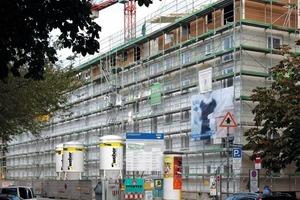 Eine Kombination aus leistungsfähiger Wärmedämmung und erneuerbaren Energien soll im Münchener Wohnquartier eine CO2-neutrale Energieversorgung gewährleisten