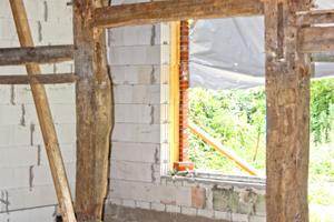 21 zweiflügelige Fenster mit Oberlichtern, Rundbogen und Fenstersprossen sowie drei Eingangstüren und eine grün/grün lackierte Dielentür wurden für den Pellenhoff gefertigt