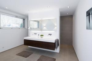 Blick in das fertige Bad im Obergeschoss<br />