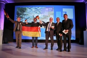 Glückliche Gewinner auf der 10. Saint-Gobain Gypsum International Trophy Anfang Juni in Prag: die G+K Trockenbau GmbH