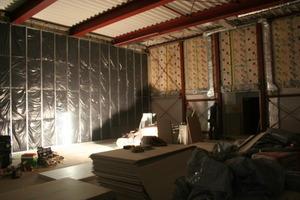 Montage der Stahkonstruktion in den Anbauten<br />