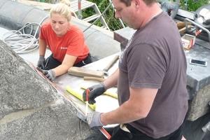 Die Bleibleche lassen sich leicht zuschneiden und an die zu schützenden Bauteile anpassen