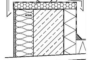Die Abdichtungsebene muss vollständig über die Traufbohle bis zur Außenkante des WDVS geführt werden Quelle: Joachim Schulz