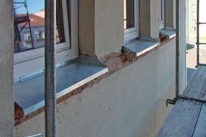 Für ein WDV-System müssen Bauteile wie zum Beispiel hier die Fensterbänke entsprechend angepasst werden<br />