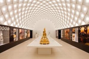 Im mittleren der drei Tonnengewölbe befindet sich der zentrale Ausstellungsraum des Museums Fotos: Marcus Ebener