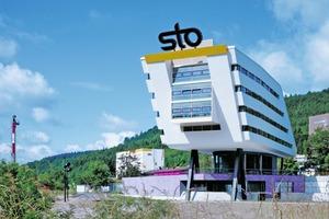 Wahrzeichen: das sogenannte K-Gebäude von Star-Architekt Michael WilfordFotos: Sto