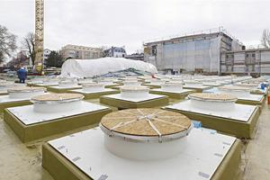 Abgedeckte Oberlichter während der Bauphase<br />Fotos (4): Norbert Miguletz / Städel Museum<br />