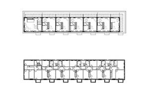 Grundriss Dachgeschoss, Maßstab 1:400