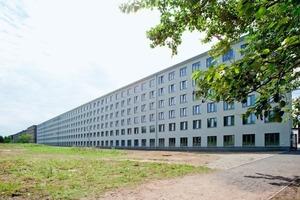 Die Jugendherberge erstreckt sich über einen 152 m langen Abschnitt des 4,5 km langen Gebäudes Foto: Saint-Gobain Weber