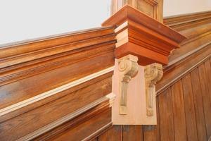 Erneuertes Detail einer Treppenhauswand <br />