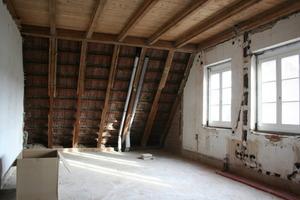 Raum im Dachgeschoss währende der Umbauarbeiten<br />
