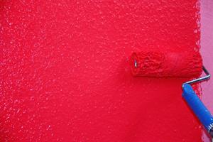 Auf den getrockneten Mix Color Base Anstrich wird nun der gewünschte Farbton aufgetragen