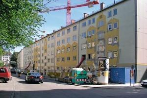 Das Wohnquartier in der Münchener Lilienstraße vor der Sanierung