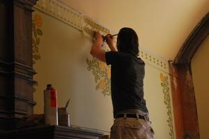 Restauration der Treppenhausbemalung