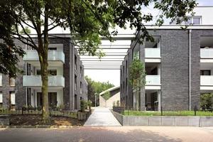 Barrierefreies Wohnensemble im Niedrigenergiestandard in Duisburg-Hamborn nach Plänen von Druschke und Grosser Architekten Foto: Thomas Riehle