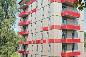 Für das achtgeschossige Holz-Hochhaus in Bad Aibling musste ein besonderes Brandschutzkonzept entwickelt werden<br />
