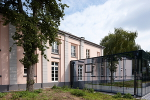 Glaskubus als Erweiterung des Foyers für den Konzertsaal<br />