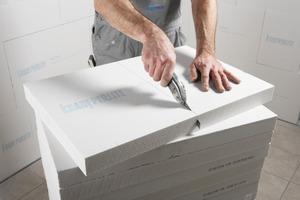 Passstücke können mit einem Messer oder einem feinzahnigen Fuchsschwanz auf Maß zugeschnitten werden<br />