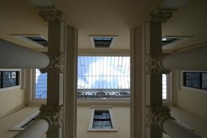 Glasdach über dem Lichthof<br />