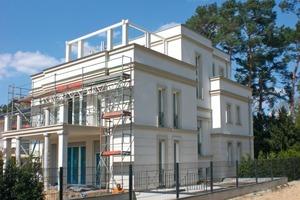 Stuckarbeiten beim Neubau einer Villa in Berlin<br />