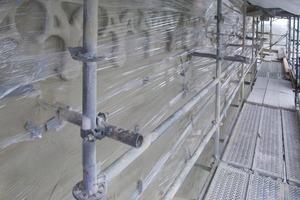 Folienschutz gegen zu schnelles Austrocknen