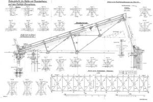 Historische Plan der Sheddächer aus der Erbauungszeit<br />