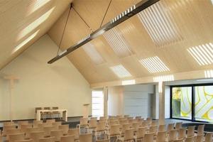 Der Sieger des Architektenwettbewerbs 2012, Architekt Ulrich Arndt aus Berlin, beeindruckte mit dem Vorschlag, Licht, das durch Dachfenster in den Raum fällt, durch Holzlamellen so zu filtern, dass die besondere Lichtsituation eine stimmungsvolle, sakrale Ästhetik kreiert<br />Foto: Velux Deutschland<br />