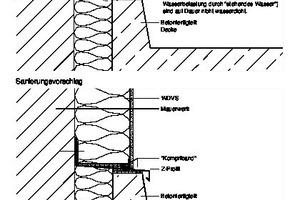 Die Skizze zeigt die Ist-Situation eines Anschlusses mit Quellband Quelle: Joachim Schulz