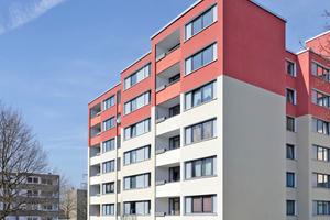 """Dickputz-Systeme verbinden Schlagfestigkeit mit einem hohen Brand- und Schallschutz und eignen sich daher hervorragend für große Wohnungsbauten<span class=""""bildnachweis"""">Fotos: Saint-Gobain Weber</span>"""