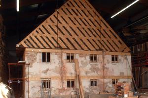 Aufbau in der Halle