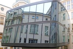 Pavillonneubau für den Musiklesesaal im linken der beiden Innenhöfe des Altbaus<br />