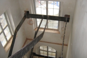 Einbau eines neuen Treppenhauses<br />