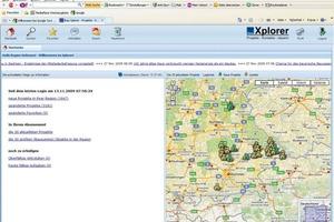 Und so sieht die Online-Akquise mit dem Xplorer auf Ihrem Bildschirm aus<br />