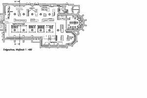 Grundriss Erdgeschoss, Maßstab 1 : 400