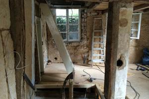 Bauprozess, Treppenaufgang Obergeschoss