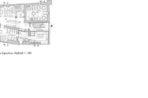 Grundriss Erdgeschoss, Maßstab 1:300<br />