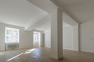 Blick in eine fertige umgebaute Wohnung in Haus 1 …