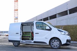 """Unser Testwagen: Der """"Fiat Talento SX"""" mit kurzem Radstand wird von einem 92 kW starken TwinTurbo mit 320 Nm Drehmoment angetrieben"""