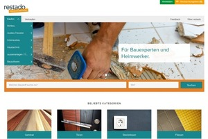 """Die Online-Plattform """"restado"""" bringt Anbieter und Nachfrager von Baumaterialien zusammen<br />Quelle: <a href=""""http://www.restado.de"""" target=""""_blank"""">www.restado.de</a>"""