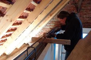 Ringbalken auf der Porenbetonmauerkrone im Obergeschoss<br />