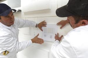 Mit Hilfe des Verlegeplans wurden die Dämmplatten optimal auf der Fassade verteilt