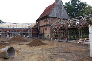 Besonderes Restaurierungsprojekt: Der 1549 erbaute Speicher von Haus Kump ist der Restbestand eines alten Amtshofes des Domkapitels zu Münster