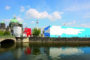 Anfang September war die von Adolf Krischanitz entworfene Temporäre Kunsthalle auf dem Schlossplatz in Berlin fertig. Die offizielle Eröffnung ist Ende Oktober