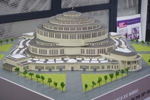 Modell der Jahrhunderthalle von Max Berg