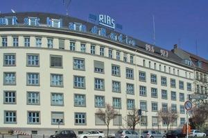 Die fertiggestelle Fassade des Rias-Gebäudes in Berlin<br />Foto: Hartmut Heintz