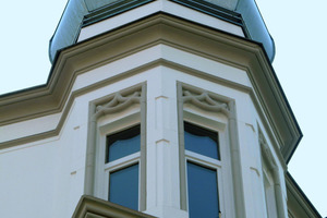 Farbige Gestaltung des Turmerkers<br />