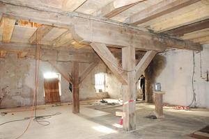 Bei der Umnutzung versuchte man den alten Gebäudezustand der Mühle so weit wie möglich zu erhalten und nicht zu entkernen<br />
