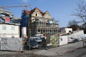 Die Villa während der Sanierungs- und Umbauarbeiten<br />
