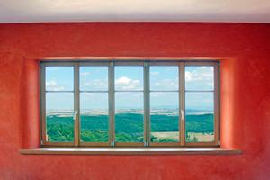"""Mit Erdpigment eingefärbter Kalkfilzputz<span class=""""bildnachweis"""">Foto: Hessler Kalkwerke</span>"""